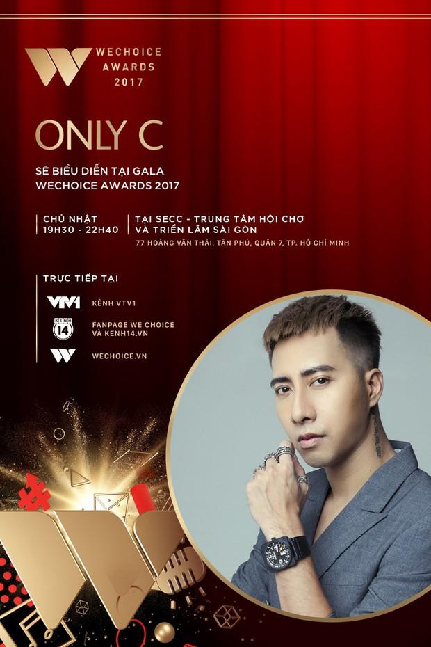 Only C, Lou Hoàng, Suni Hạ Linh xác nhận góp mặt tại Gala WeChoice Awards 2017 - Ảnh 1.