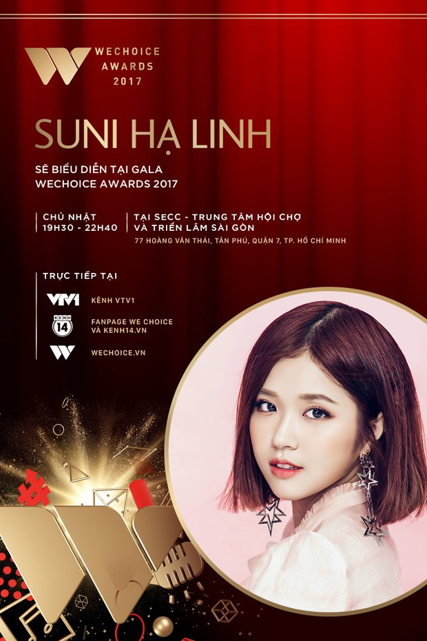Only C, Lou Hoàng, Suni Hạ Linh xác nhận góp mặt tại Gala WeChoice Awards 2017 - Ảnh 4.