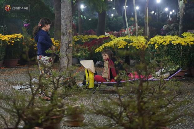 Chùm ảnh: Sợ mất trộm, nhiều gia đình tiểu thương dựng lều mắc võng, thay phiên nhau thức đêm để canh hoa Tết - Ảnh 12.
