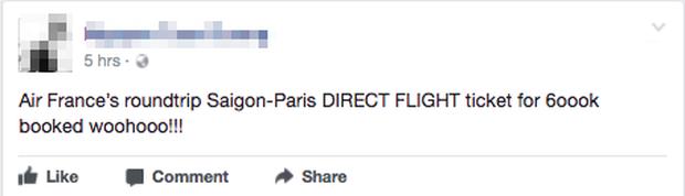 Sáng 29 Tết, nhiều người Việt bất ngờ mua được vé máy bay khứ hồi đi thẳng Pháp với giá chỉ khoảng 4,7 triệu đồng - Ảnh 1.