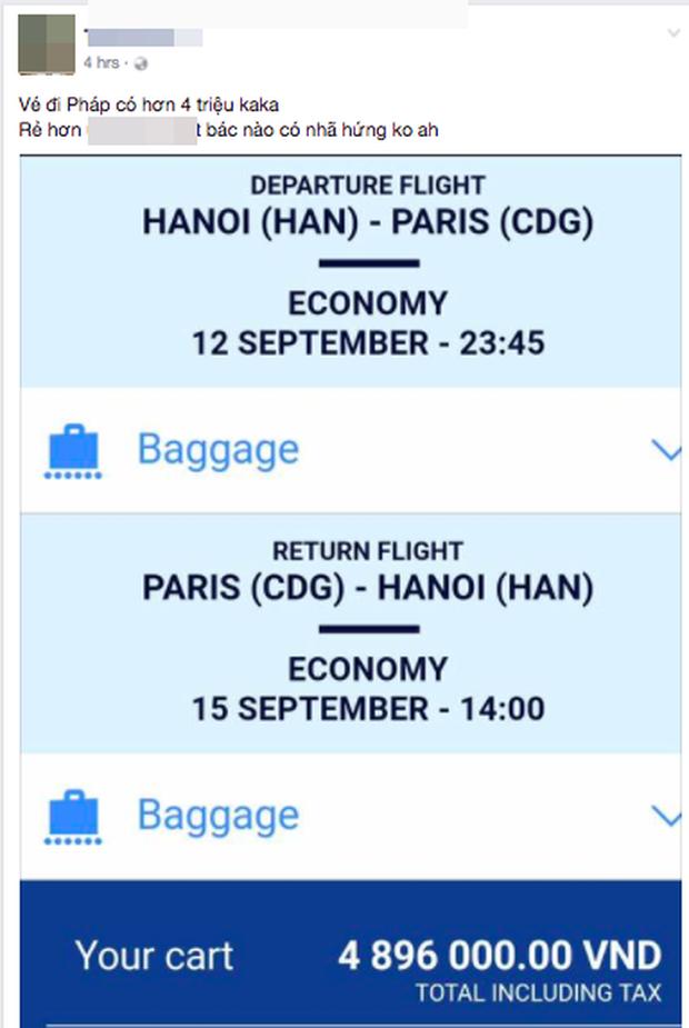 Sáng 29 Tết, nhiều người Việt bất ngờ mua được vé máy bay khứ hồi đi thẳng Pháp với giá chỉ khoảng 4,7 triệu đồng - Ảnh 2.