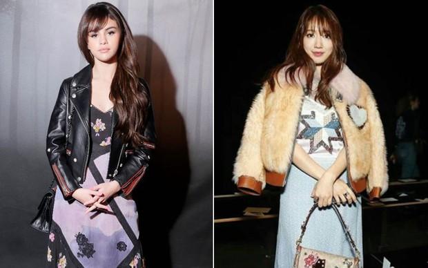Cùng chễm chệ ghế đầu tại show thời trang, Selena Gomez và Park Shin Hye - nàng nào nổi bật hơn? - Ảnh 7.