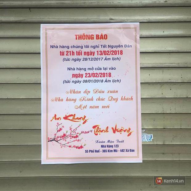 Lịch mở cửa Tết của hàng quán bình dân ở Hà Nội: các hàng nổi tiếng nghỉ rất lâu - Ảnh 15.