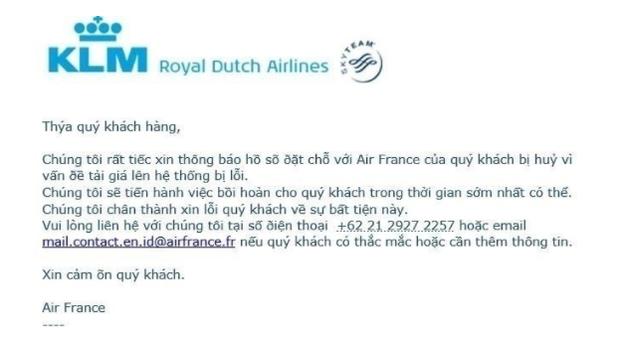 Nhiều người Việt ngỡ ngàng khi Air France đơn phương huỷ loạt vé máy bay siêu rẻ đi Pháp do lỗi hệ thống trong ngày 14/2 - Ảnh 1.