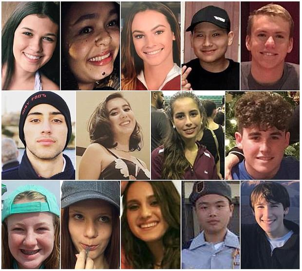Bức ảnh khiến cả thế giới chết lặng cùng nỗi đau nước Mỹ: Chân dung 14 em học sinh tử nạn trong vụ xả súng ngày Valentine - Ảnh 1.