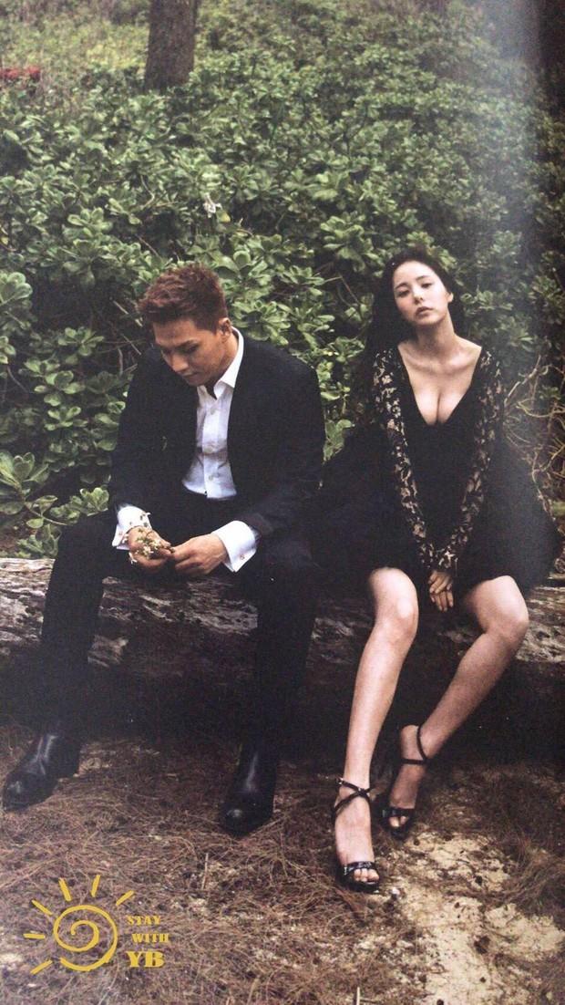 Ngã ngửa vì Min Hyo Rin khoe ngực khủng như sắp tràn, Taeyang... đội khăn voan cô dâu trong hình cưới - Ảnh 1.