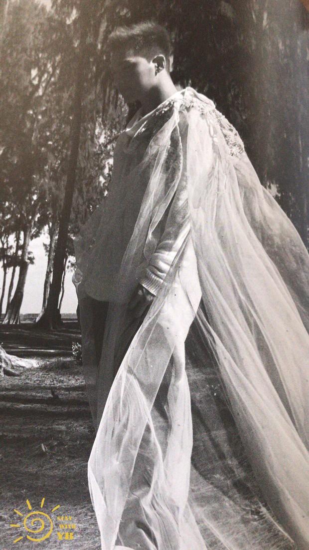 Ngã ngửa vì Min Hyo Rin khoe ngực khủng như sắp tràn, Taeyang... đội khăn voan cô dâu trong hình cưới - Ảnh 5.
