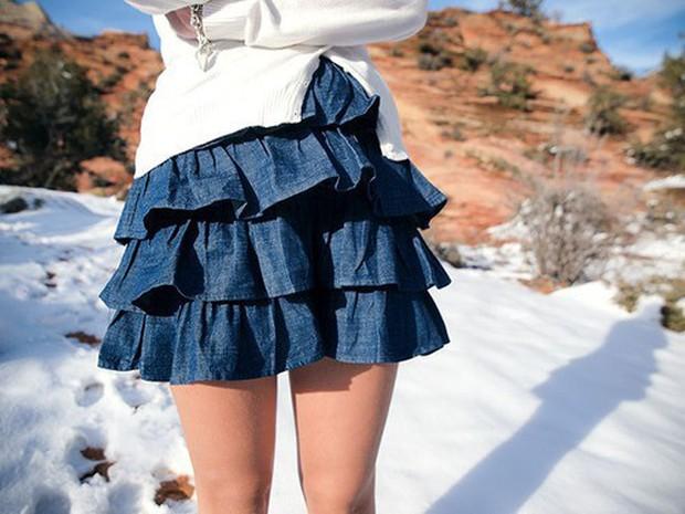 """Thời trang """"phang"""" thời tiết, cô gái diện váy ngắn giữa trời đông giá rét và nhận cái kết không thể nào đắng hơn - Ảnh 3."""