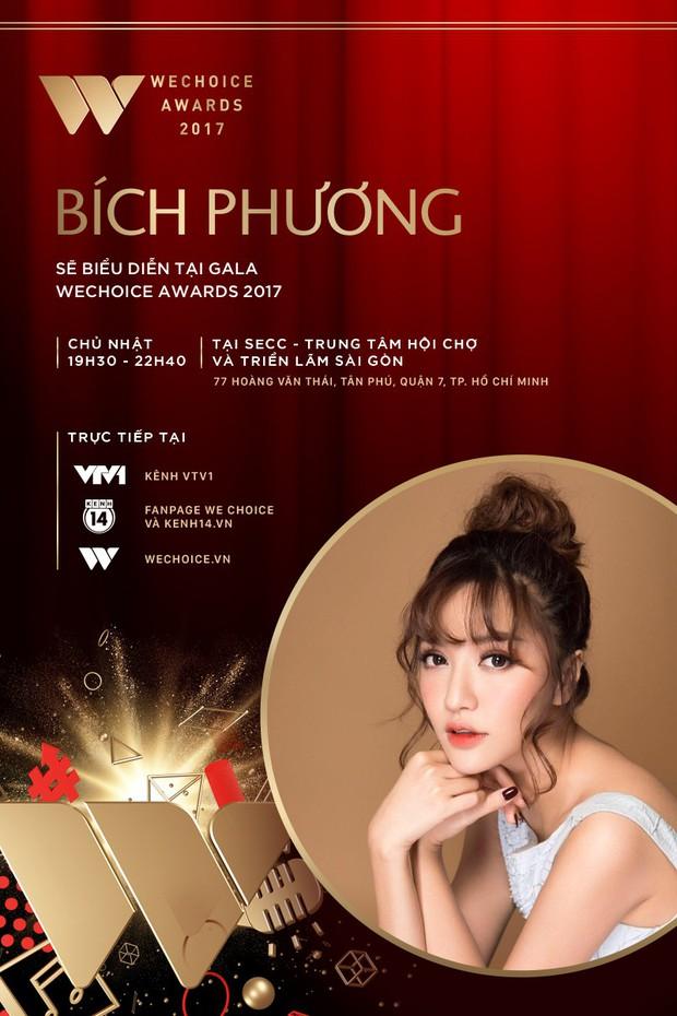 Bích Phương và Bảo Anh là 2 ca sĩ tiếp theo xác nhận biểu diễn tại Gala WeChoice Awards 2017 - Ảnh 1.