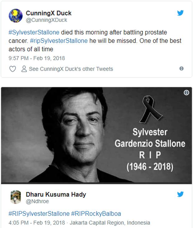 Fan anh hùng cơ bắp Sylvester Stallone được phen hú hồn khi tài tử dính phải tin đồn qua đời - Ảnh 4.