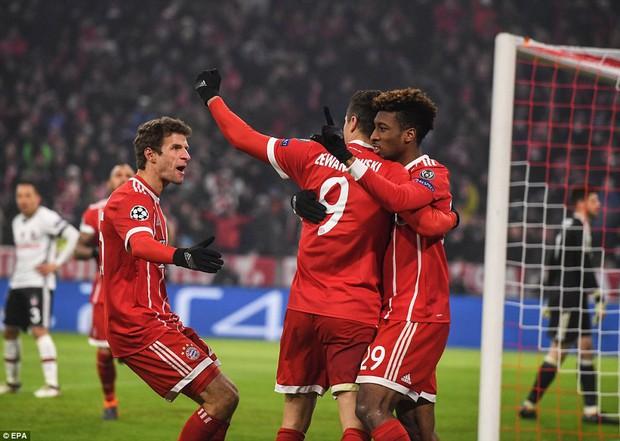 Bayern Munich hủy diệt Besiktas, đặt một chân vào tứ kết Champions League - Ảnh 7.