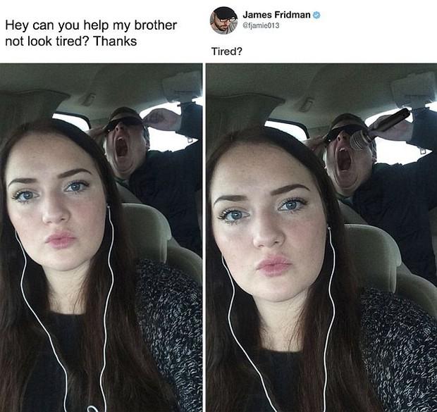 Hàng ngày photoshop chế ảnh người khác, anh chàng lại khiến nhiều người cảm động trước yêu cầu từ một cô gái bị bạn bè bắt nạt - Ảnh 6.