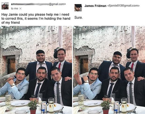 Hàng ngày photoshop chế ảnh người khác, anh chàng lại khiến nhiều người cảm động trước yêu cầu từ một cô gái bị bạn bè bắt nạt - Ảnh 10.