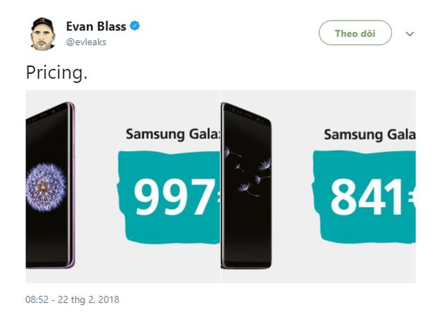 Chuyên gia biết tuốt tiết lộ Galaxy S9 sẽ có giá tận 1000 euro, vượt cả mức 1000 USD của iPhone X - Ảnh 1.