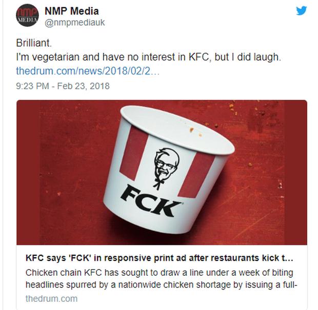"""Gần 900 cửa hàng đóng cửa vì thiếu thịt gà, KFC tung print ad xin lỗi: """"FCK, We're Sorry"""" - Ảnh 2."""