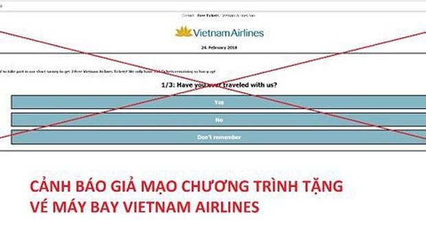 Cảnh báo giả mạo tặng vé máy bay miễn phí - Ảnh 1.