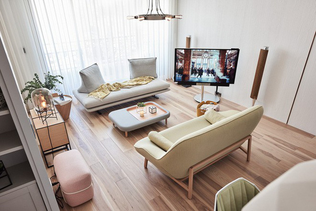 Không thể rời mắt khỏi căn hộ có nội thất màu pastel - Ảnh 1.
