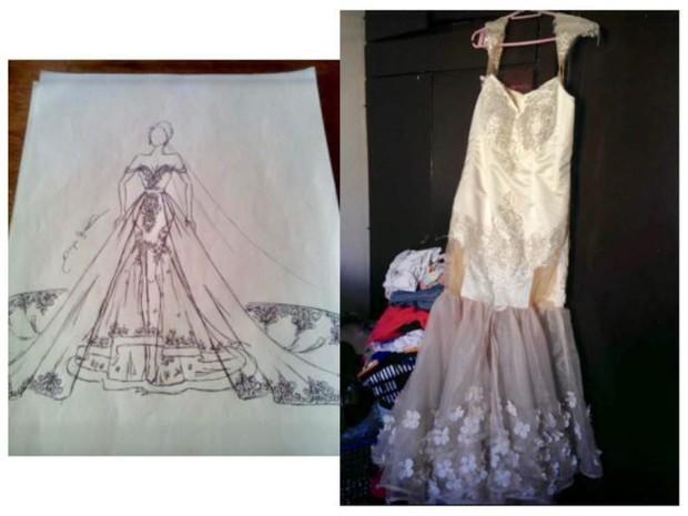 Tin tưởng nhờ bạn may váy cưới với giá 15 triệu đồng, cô dâu tá hỏa khi nhận được sản phẩm ngoài sức tưởng tượng - Ảnh 1.