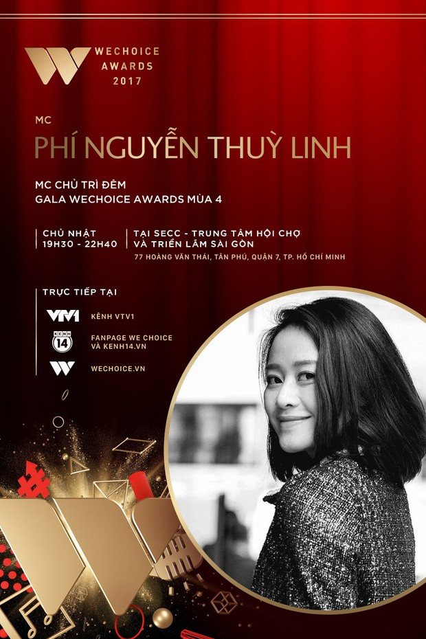 MC Tùng Leo và MC Phí Linh cầm trịch đêm Gala trao giải WeChoice Awards 2017 - Ảnh 2.
