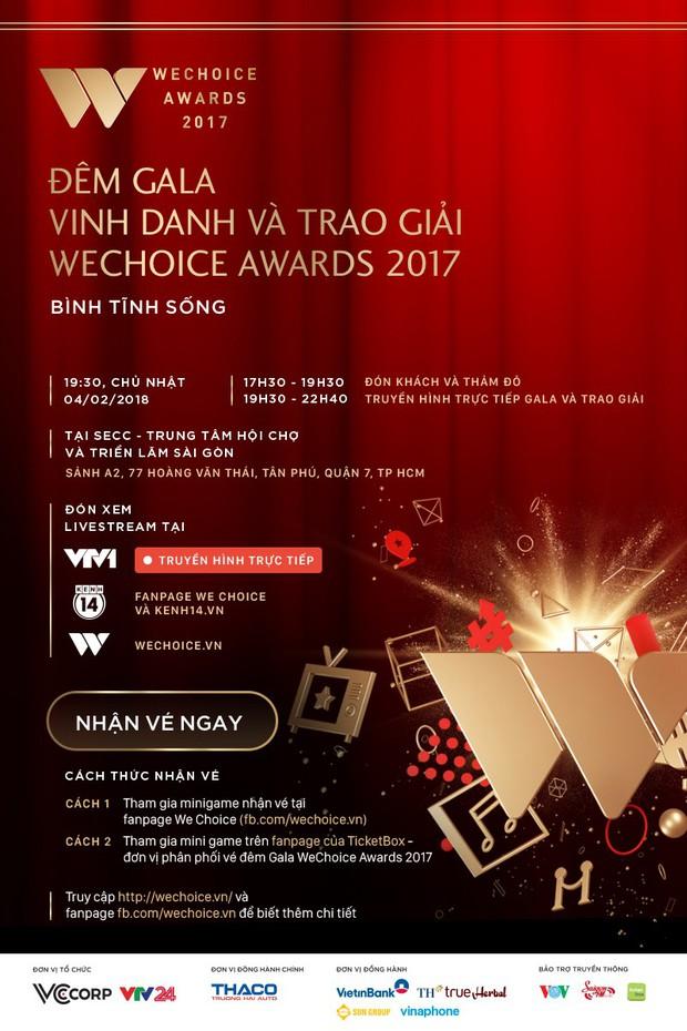 MC Tùng Leo và MC Phí Linh cầm trịch đêm Gala trao giải WeChoice Awards 2017 - Ảnh 3.