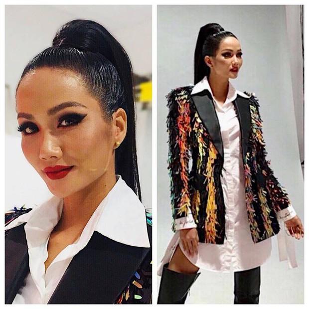 Để tóc dài trang điểm đậm đã không hợp, Hoa hậu HHen Niê còn thua Tóc Tiên trong khoản mix đồ khi đụng hàng - Ảnh 1.