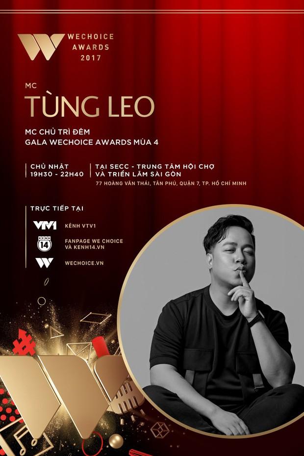 MC Tùng Leo và MC Phí Linh cầm trịch đêm Gala trao giải WeChoice Awards 2017 - Ảnh 1.