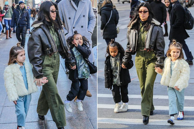 Con gái 4 tuổi của Kim và chị họ 5 tuổi ra dáng tiểu thư nhí sành điệu không kém người lớn trên phố - Ảnh 8.
