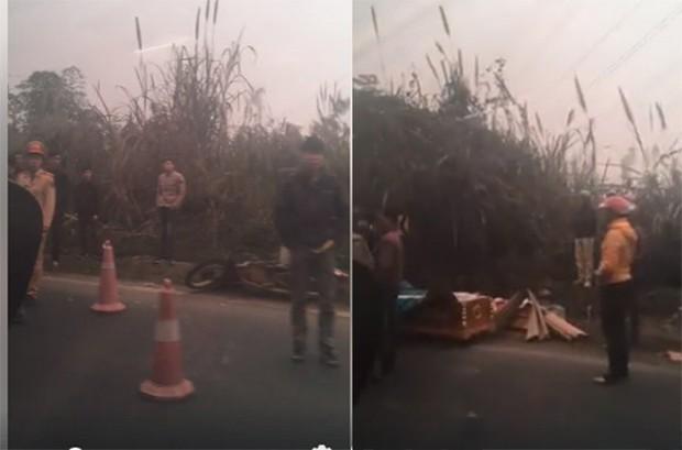 Hòa Bình: Va chạm với xe ô tô tải 2 người đi xe máy bị đứt lìa thân - Ảnh 4.