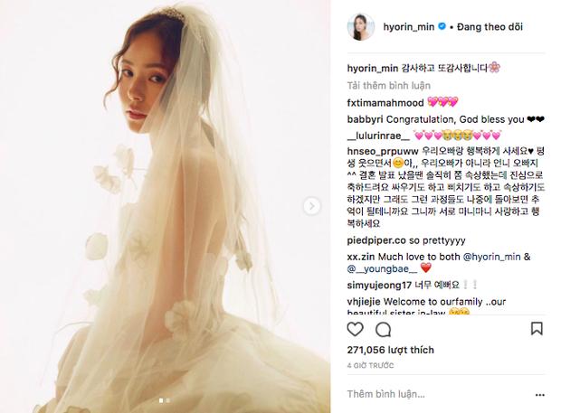 Khoảnh khắc Min Hyo Rin đạt đến đỉnh cao nhan sắc: Khi trở thành cô dâu trong bộ váy cưới trắng muốt - Ảnh 3.
