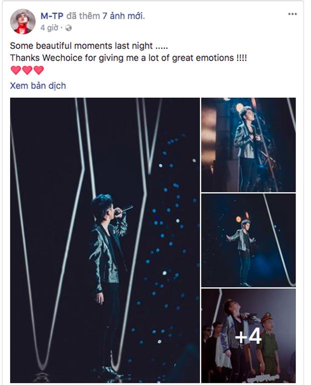 Nghệ sĩ đồng loạt bày tỏ cảm xúc sau đêm Gala WeChoice Awards 2017: Vỡ òa xúc động và vô cùng ý nghĩa! - Ảnh 2.