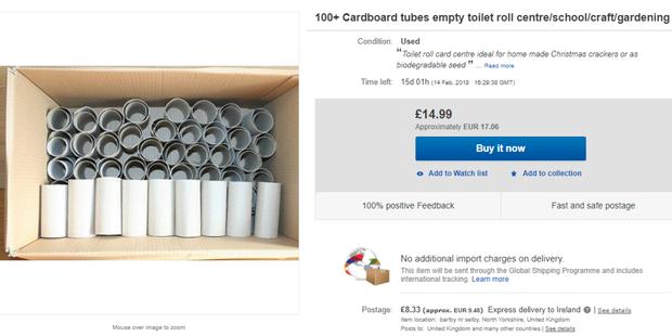 Lõi giấy vệ sinh đang là hàng hot trên eBay nhưng có ai biết người ta mua về làm gì không? - Ảnh 2.