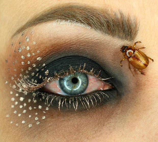 Nhặt nhạnh xác côn trùng, cô gái đã làm nên những tác phẩm make up đỉnh cao - Ảnh 11.
