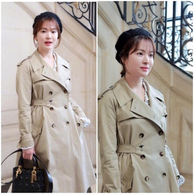 Cùng ông xã Song Joong Ki đến Pháp dự sự kiện, Song Hye Kyo khoe ảnh xinh đẹp như búp bê lên Instagram - Ảnh 3.