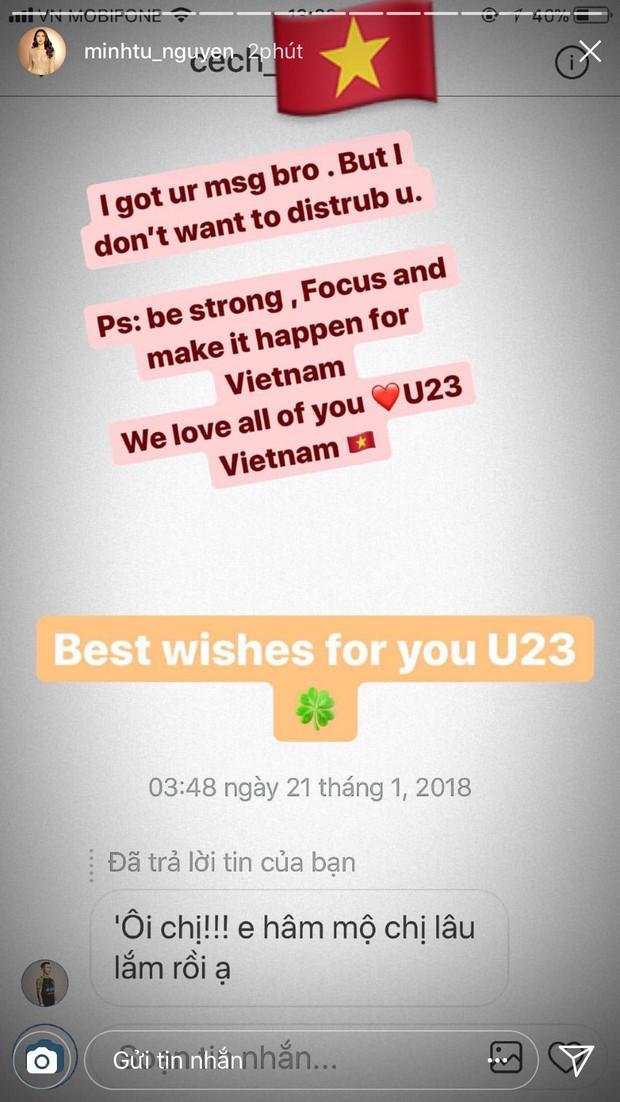 Hết nhắn tin cho Mỹ Linh, Angela Phương Trinh và giờ đến Minh Tú, Tiến Dũng quả thực là fanboy nhiệt thành nhất Vbiz - Ảnh 7.