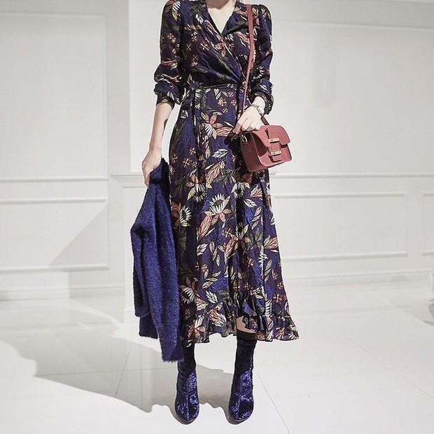 Cứ đến đầu mùa Xuân/Hè là những thiết kế váy hoa lại rộ lên với đủ mọi kiểu dáng - Ảnh 15.