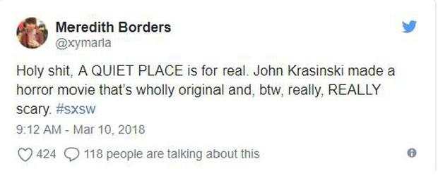 """Phim kinh dị mong chờ nhất năm """"A Quiet Place"""" được netizen ca ngợi hết lời - Ảnh 2."""