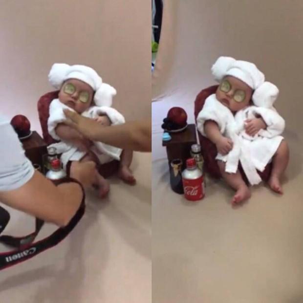 Em bé sơ sinh chụp ảnh phong cách spa hoàng gia đã giật giải nhóc tì ngầu nhất MXH hôm nay - Ảnh 2.