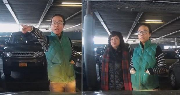 Cư dân mạng phẫn nộ trước đoạn video ba người phụ nữ Trung Quốc hiệp lực chặn ô tô, xí chỗ của người khác trong bãi đậu xe - Ảnh 1.