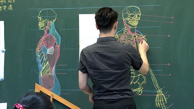 Thầy giáo nhà người ta: Vừa điển trai lại vẽ hình minh họa cực đẹp khiến học sinh mê mẩn - Ảnh 8.
