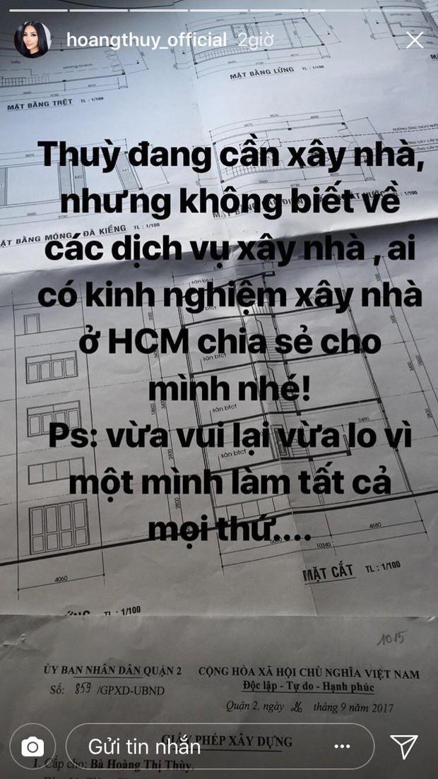 Hoàng Thùy gây chú ý khi xây nhà sau 3 tháng đăng quang ngôi vị Á hậu Hoàn vũ Việt Nam 2017  - Ảnh 1.