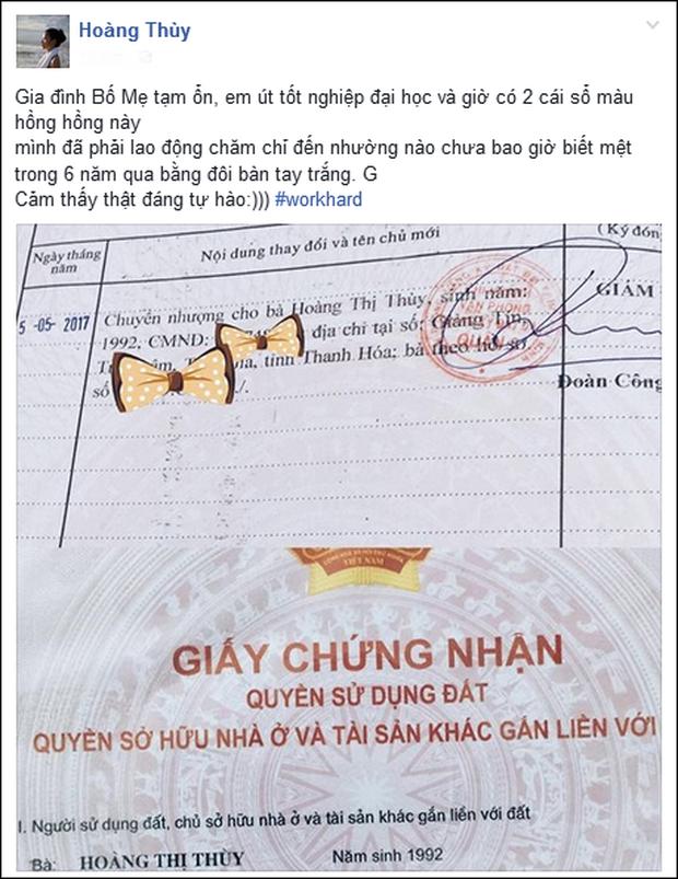 Hoàng Thùy gây chú ý khi xây nhà sau 3 tháng đăng quang ngôi vị Á hậu Hoàn vũ Việt Nam 2017  - Ảnh 2.