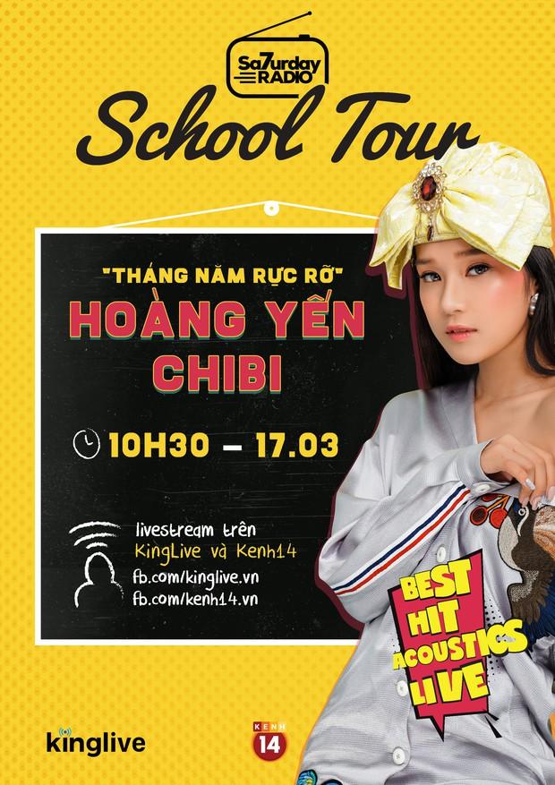 Hoàng Yến Chibi lần đầu hát live Nụ hôn đánh rơi nhân dịp xông đất Saturday Radio phiên bản mới - Ảnh 2.