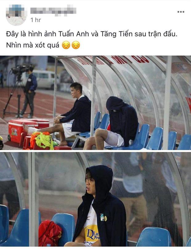 Bức ảnh Tuấn Anh gục đầu, khóc nức nở vì chấn thương khiến fan hâm mộ đau lòng xót xa - Ảnh 4.