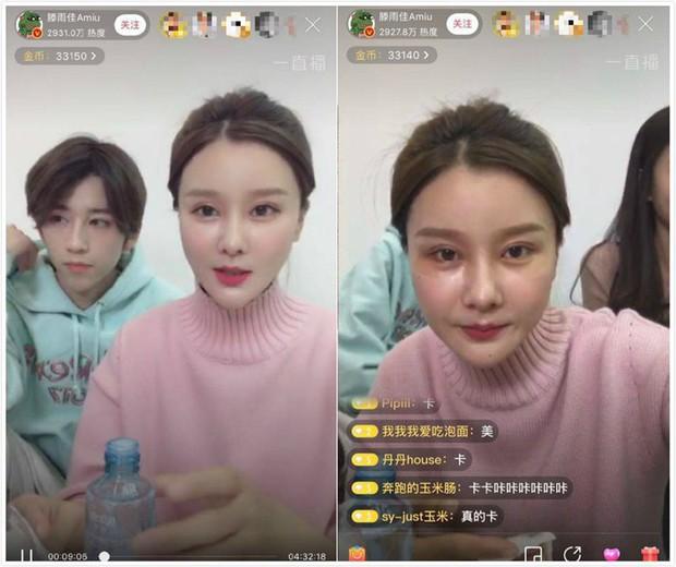 Những màn thiên nga hóa vịt xấu xí chỉ bởi vì quên mở ứng dụng làm đẹp của các hot girl Trung Quốc - Ảnh 7.