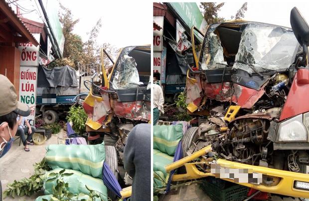 Tai nạn hy hữu: Xe cứu hộ chở xe con đâm vào xe tải rồi cả 3 cùng lao vào nhà dân - Ảnh 2.