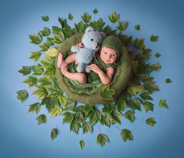 Ngất ngây với chùm ảnh những em bé sơ sinh cuộn tròn say ngủ - Ảnh 3.