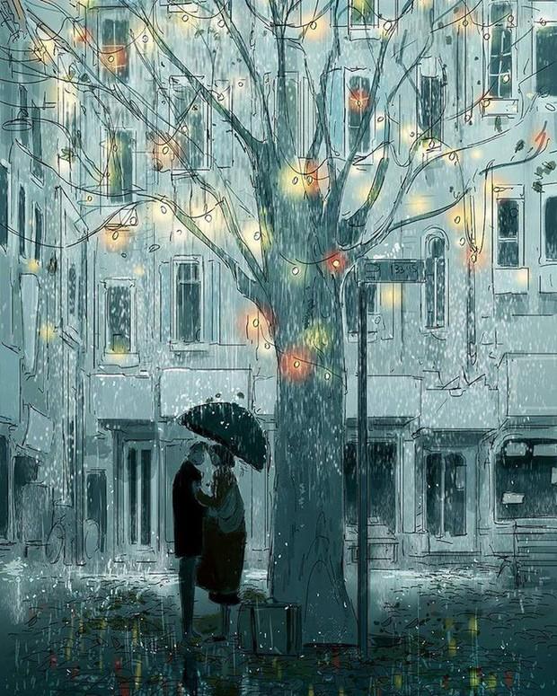 Mình yêu nhau, yêu nhau bình yên thôi - Bộ tranh tình yêu khiến triệu trái tim rung động - Ảnh 9.