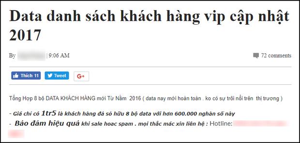 Dữ liệu người dùng Facebook tại Việt Nam đang được rao bán tràn lan trên mạng - Ảnh 3.