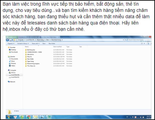 Dữ liệu người dùng Facebook tại Việt Nam đang được rao bán tràn lan trên mạng - Ảnh 1.