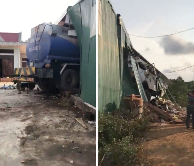 Gia Lai: Xe bồn mất lái đâm xuyên thủng nhà dân - Ảnh 2.